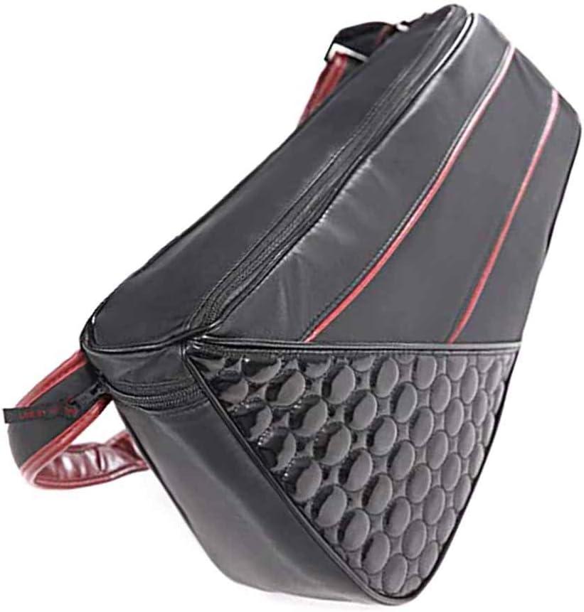 SASALO PU shoulder strap adjustable crocodile pattern black backpack leather bag