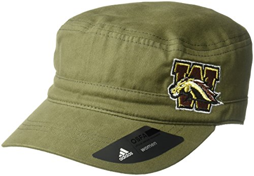 (adidas NCAA Western Michigan Broncos Army Green Military Hat, One Size, Olive)