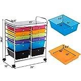 Giantex 12 Drawer Rolling Storage Cart Tools