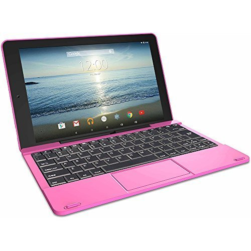 """2016 Newest Premium High Performance RCA Galileo Pro 11.5"""" 32GB Touchscreen Tablet Computer with Keyboard Case Quad-Core 1.3Ghz Processor 1G Memory 32GB HDD Webcam Wifi Bluetooth Android 6.0-Pink"""