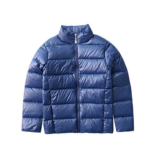 Boys Duck Active Jacket (M2C Boy & Girls Ultralight Packable Windproof Puffer Active Down Jacket 5T Navy)