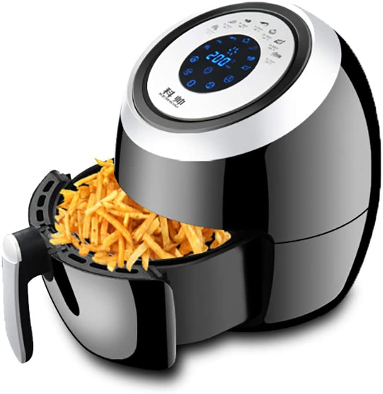 Z&H 5.8 Quart Large Capacity Oil-Less Air Fryer,Multi-Functional Hot Air Fryers with 7 One-Touch Programs Touch Screen,Temperature Control,Auto Shutoff