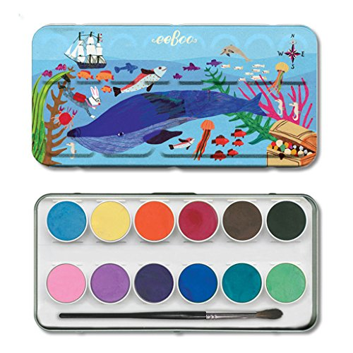 - eeBoo – 12 Watercolours in The sea (wcise)