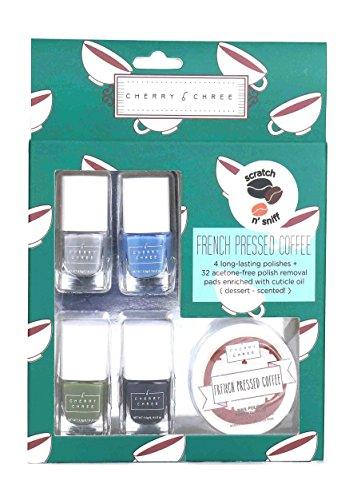 Essential Cute Cherry Chree Nail Polish Gift Set (French Pressed Coffee)