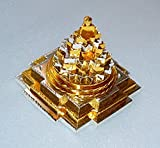 BLESSED & ENERGIZED Sri Meru Yantra 3D with 11 Plates in Panchdhatu (Mixture 5 metals)-2Lx2Wx2H Inches-For Spiritual powers, Inner Doshas & Enormous wealth