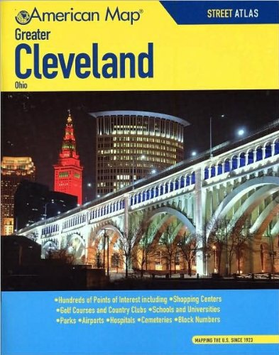American Map 607910 Greater Cleveland Ohio Street Atlas