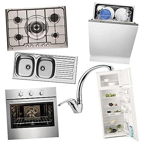 offerta kit set incasso piano cottura frigo forno lavello rubinetto ...
