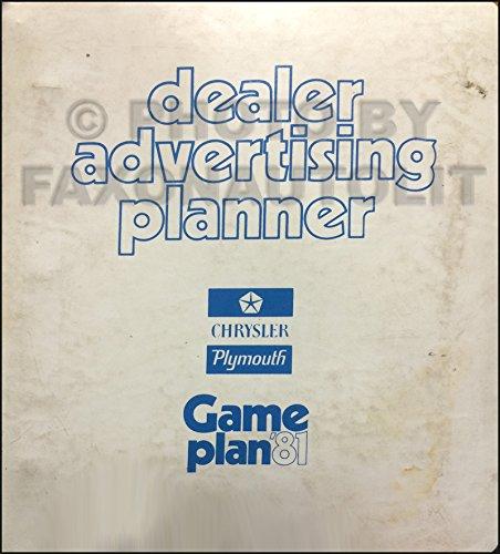 1997 Chrysler Plymouth Dodge Dealer Advertising Planner Original