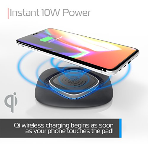 tzumi HyperCharge 10-Watt Wireless Fast Charger Pad for Qi