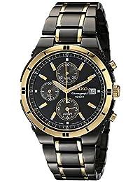 Seiko SNAA30 Men's Two-Tone Alarm Chronograph Wrist Watch
