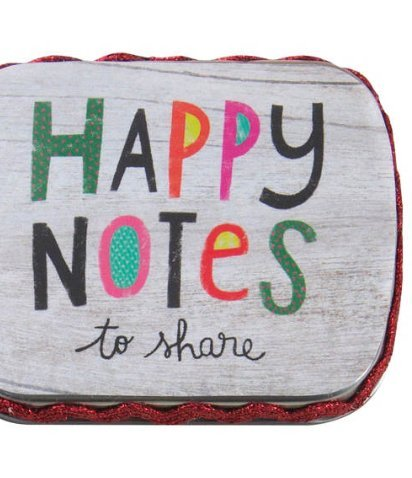 Natural Life Tiny Tin Happy Notes with Keychain Clip