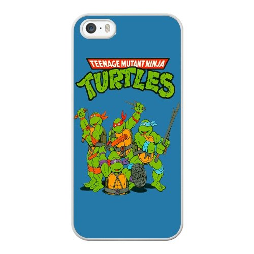 Coque,Coque iphone 5 5S SE Case Coque, Teenage Mutant Ninja Turtles Logo Cover For Coque iphone 5 5S SE Cell Phone Case Cover blanc