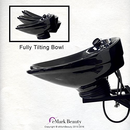 Beauty Salon Shampoo CERAMIC Tilt Bowl Wall Mounted Salon...