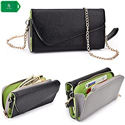 Cellphone wallet wristlet case, New Holds Phone|Cards|Cash- Universal fit for Sony Xperia Z5 Premium |Sony Xperia T2 Ultra|Sony Xperia T2 Ultra dual