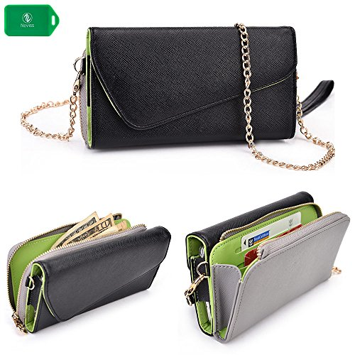 cellphone-wallet-clutch-includes-crossbody-chain-black-grey-universal-design-fits-the-following-sams