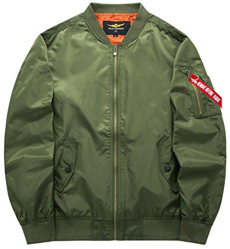 Yyzyy Manteaux Veste Jacket armygreen Ma1 Aviateur B8807 Classique 4xl Pilot Air Bomber Vol Homme Force Coat Blousons 16 Flight Couleur Xs pCCSr