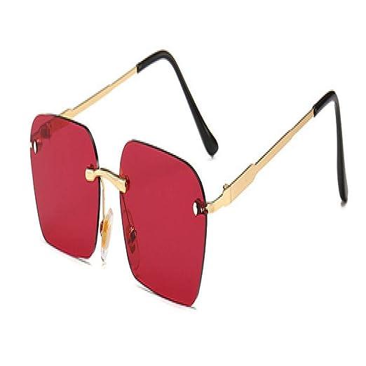 Yangjing-hl Gafas de Sol sin Montura de Moda Trending Clear ...