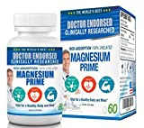 Cheap Chelated Magnesium Supplement Doctor Endorsed – High Absorption Magnesium, 100% Magnesium Chelate, 200mg, Non-GMO, Vegan, Gluten Free, Soy Free, 60 Magnesium Pills