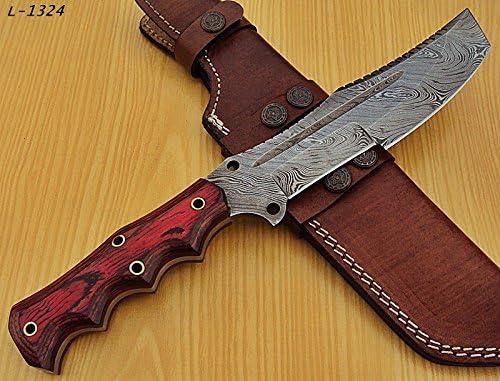 Poshland TR-1324 Custom Handmade Damascus Steel Tracker Knife
