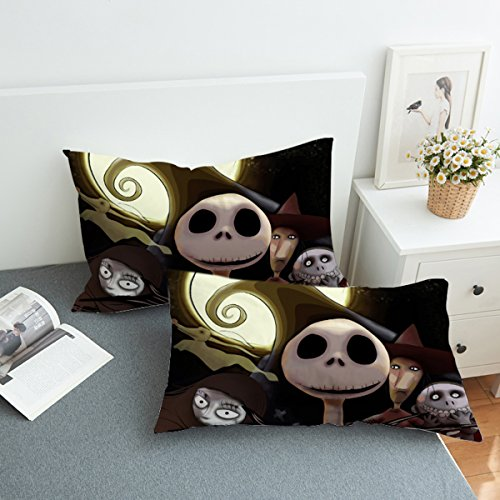 Koongso Nightmare Before Christmas Pillow Case for Home D¨¦cor Reversible Jack Sally