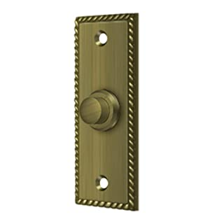 Deltana bbsr3333–1/4'x 1–1/4latón macizo rectangular Cuerda botón de Bell, Deltana Enterprises BBSR333U5