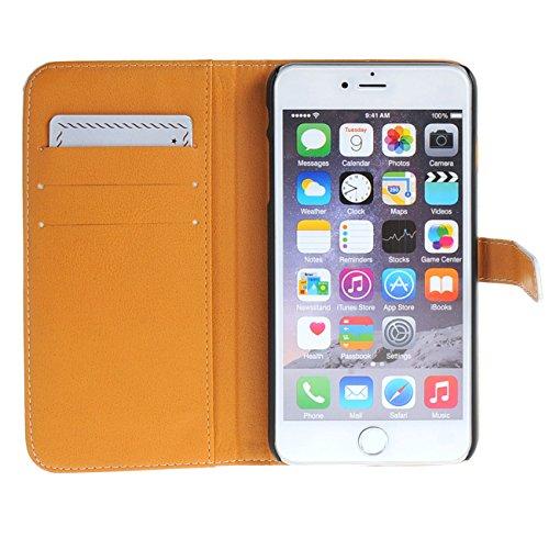 """MOONCASE Case für iPhone 6 (4.7"""") Tasche Flip Leder Schutzhülle Etui Case Cover Hülle Schale / a03"""