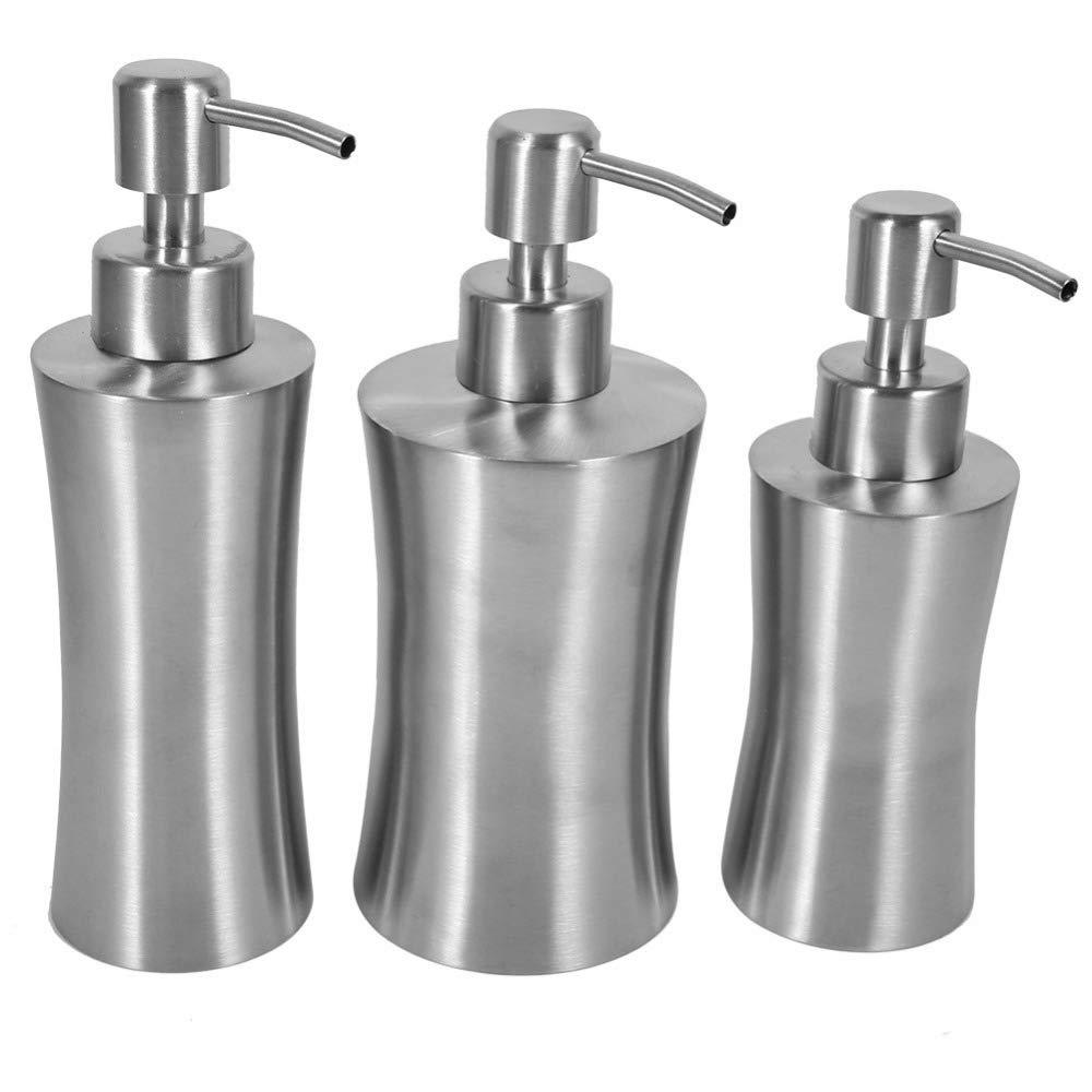 Gold Happy 304 Stainless Steel 220ml 250ml 400ml Liquid Soap Dispenser Kitchen Bathroom Lotion Pump Bathroom Hardware