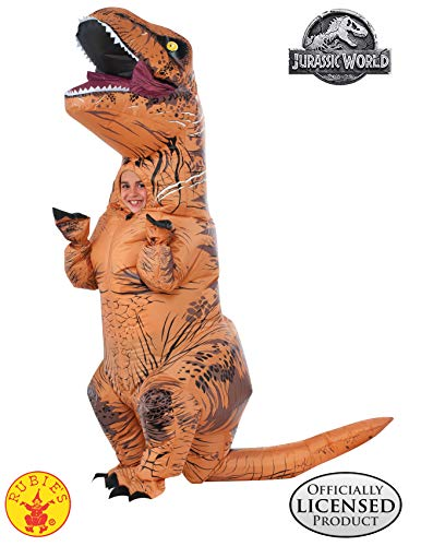 Kid Costume For Adults (Rubie's Jurassic World T-Rex Inflatable Costume, Child's Size)