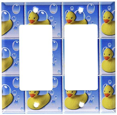 Art Plates - Rubber Duckies Switch Plate - Double Rocker (Duckie Rocker)