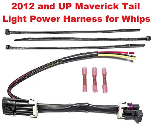 X-DS for Powering LED Whips Brake Lights License Plate Lights or Any 12v Accessory Muzzys Tail Light Whip Power Harness Adapter Splice Pigtail Jumper FITS: 2012-2020 Can Am Maverick X3 Max etc