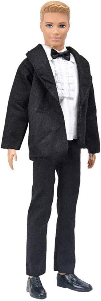 per la bambola Ken Argento in stile occidentale Elegantstunning Vestito da matrimonio per bambole da 32 cm