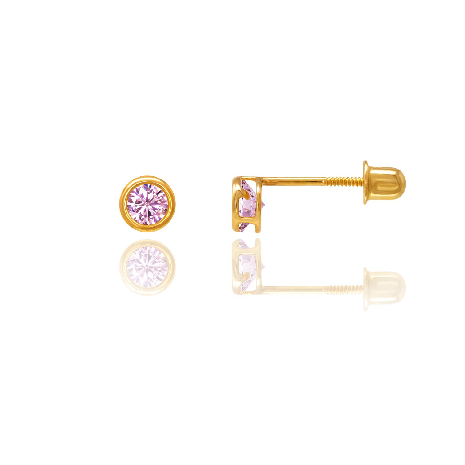 14kt Solid Gold Kids Stud Screwback Earrings Stephanie Rockway GSE100PU