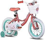 "JOYSTAR Fairy Kids Bike with Coaster Brake & Training Wheels for 2-6 Years Old Girl,12"" 14"" 16&q"