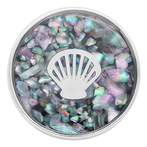 Lovmoment 20mm Snap Button Shell Inlay Blue Aurora Jewelry DIY Button Ginger Snaps Bracelet