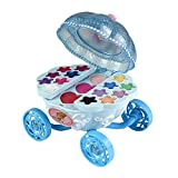 Goolsky Disney Princess Makeup Chest Girls All-In-One Deluxe Cosmetic and Real Moveable Makeup Palette Toys