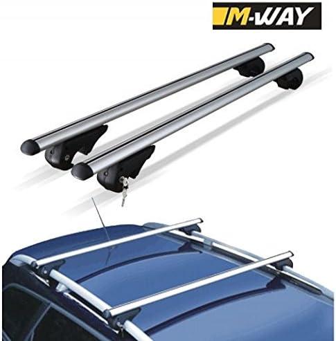 M.Way NNRB1040.18 120mm UNVERSAL CAR ROOF AERO Bars Rack Aluminium Locking Cross Rails