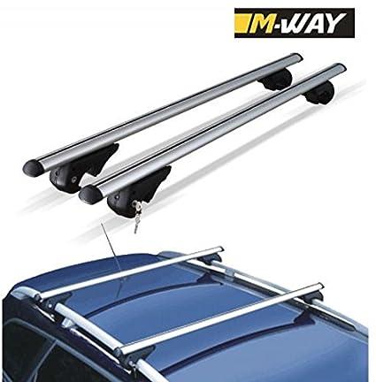 M-Way nnrb1045.33 Aero – Barras de Techo de Aluminio Rack Cruz, diseño de Bloqueo Rail Eagle