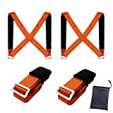 Moving Straps Lifting Moving Straps Carrying Belt Max Load 650 Pound 2 Person Moving Tool Adjustable Straps Safety to Move Heavy Objects Lift Appliances Furniture Mattresses Sofa