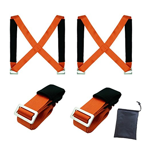 Moving Straps Lifting Moving Straps Carrying Belt Max Load 650 Pound 2 Person Moving Tool Adjustable Straps Safety to Move Heavy Objects Lift Appliances Furniture Mattresses Sofa by USYU