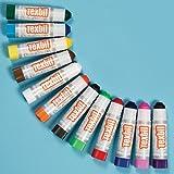 Jack Richeson 2610461 Play Color Standard Textil Stick Set, Assorted Color (Pack of 12)
