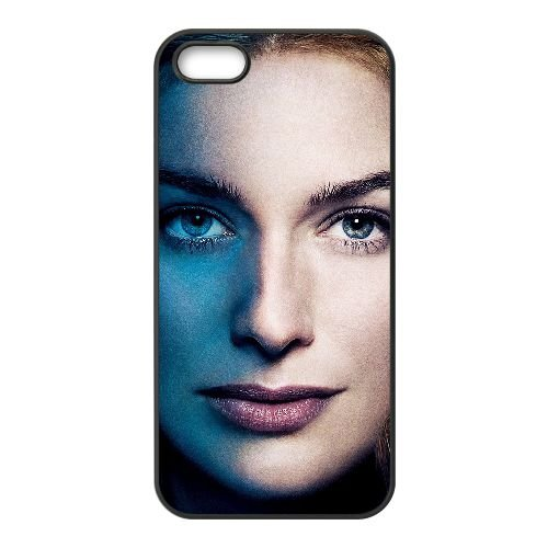 Cersei Lannister 001 coque iPhone 5 5S cellulaire cas coque de téléphone cas téléphone cellulaire noir couvercle EOKXLLNCD22714