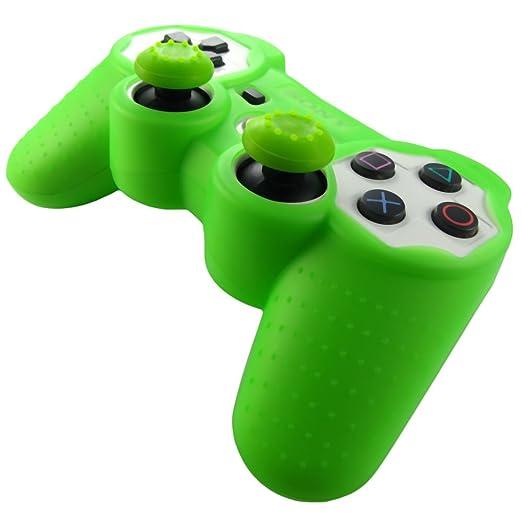 315 opinioni per Pandaren® Pelle cover skin per il PS3 controller(verde) x 1 + pollice presa x 2