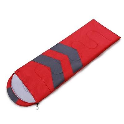 SHUIDAI Sac de couchage Camping coton , red , (190+ cap length 30) x 70
