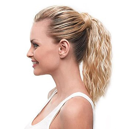 Hairdo 10 inch Simply Wavy Beach Curl Pony Tru2Life Styleable Synthetic Ponytail R1416T Buttered (Buttered Toast)