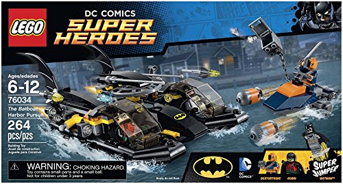 LEGO Super Heroes 76034 the Batboat Harbor Pursuit Building Kit at Gotham City Store