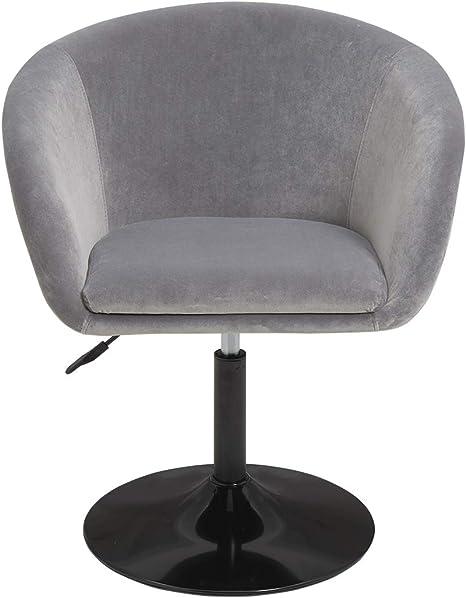 440 colore:grigio Poltrona//sedia da pranzo//sedia da cucina in similpelle//club sedia a sdraio altezza regolabile poltrona colore selezione materiale:velluto