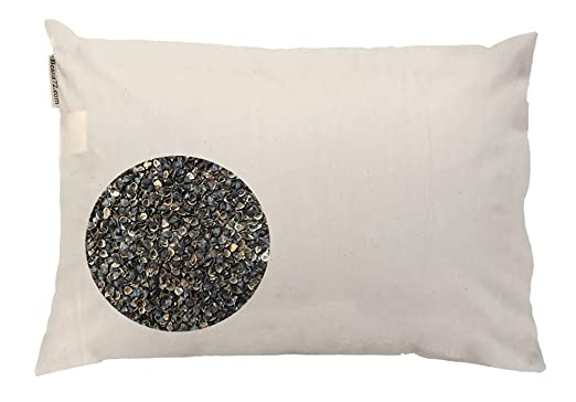 Beans72 Organic Buckwheat Pillow - Premium and Extra-Breathable