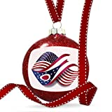 Christmas Decoration Infinity Flags USA and Ohio region America (USA) Ornament