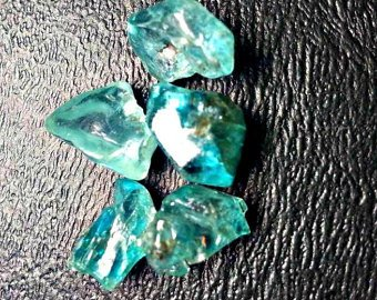 5 Quality Blue Zircon Crystals. High Quality Natural Gemstone Rough, Parcel For Wire Wrapping/ (Zircon Natural)