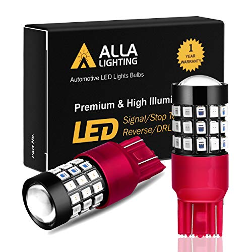 (Alla Lighting 7440 7443 LED Brake Stop Tail Lights Bulbs Super Bright T20 Wedge LED 7440 7443 Bulb 39-SMD High Power 2835 Chipsets W21W 7443 7440 Red Brake Tail Light Lamps Replacement for Cars Trucks)